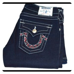 True religion Joey  jeans with rhinestones